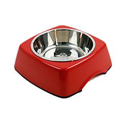 Cane Mangiatoie Animali domestici Ciotole e alimentazione Ompermeabile / Portatile / Casual Rosso Plastica