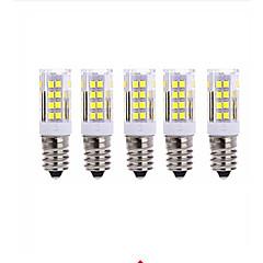 5W E14 Lâmpadas Espiga T 51 SMD 2835 800LM lm Branco Quente Branco Frio AC220 V 5 pçs