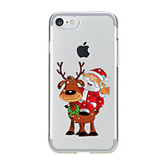 For iPhone 7 etui iPhone 6 etui iPhone 5 etui Transparent Mønster Etui Bagcover Etui Jul Blødt TPU for AppleiPhone 7 Plus iPhone 7 iPhone
