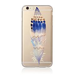 Mert Átlátszó / Minta Case Hátlap Case Toll Puha TPU mert AppleiPhone 7 Plus / iPhone 7 / iPhone 6s Plus/6 Plus / iPhone 6s/6 / iPhone