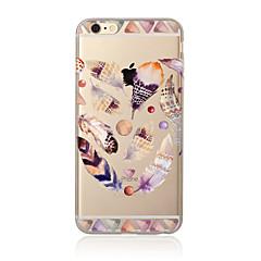 Mert Áttetsző / Minta Case Hátlap Case Toll Puha TPU mert AppleiPhone 7 Plus / iPhone 7 / iPhone 6s Plus/6 Plus / iPhone 6s/6 / iPhone