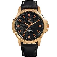 YAZOLE Hombre Reloj de Pulsera Cuarzo / PU Banda Cool Casual Negro Marrón Negro Marrón