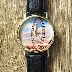Dames Modieus horloge / Polshorloge Kwarts / PU Band Vintage / Cool / Vrijetijdsschoenen Zwart Merk
