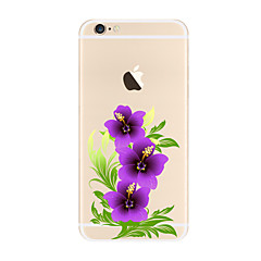 Purple flowers Pattern TPU Soft Case Cover for Apple iPhone 7 7 Plus iPhone 6 6 Plus iPhone 5 SE 5C iPhone 4