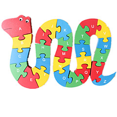 Jigsaw Puzzles Jigsaw Puzzle Building Blocks DIY Toys Snake 1 Wood Rainbow