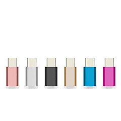 Aluminum Colorful USB 3.1 Type-C Adapter Fast Charger Charging Data Sync for Xiaomi 4c/Umi iron pro/Meizu pro 5 Adaptor