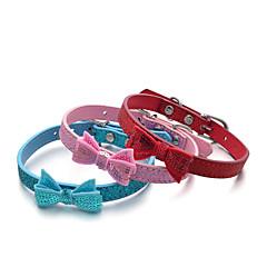 katten honden Kraag Verstelbaar/Uitschuifbaar Pailletten Effen Rood Blauw Roze PU Leder