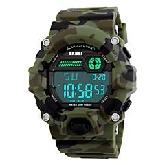 SKMEI Heren Sporthorloge Militair horloge Polshorloge LED Kalender Chronograaf Waterbestendig alarm Stopwatch s Nachts oplichtend Digitaal