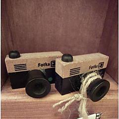 vintage kamera kuvio puinen leima (satunnaisia värejä)