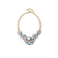 Women's Statement Necklaces Jewelry Heart Drop Agate Imitation Diamond Unique Design European Blue Jewelry For Daily Casual Valentine 1pc