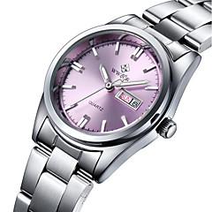 WWOOR Dames Modieus horloge Kwarts Waterbestendig Roestvrij staal Band Bedeltjes Vrijetijdsschoenen Luxueus Zilver