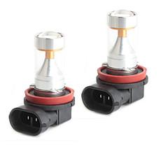 HJ H11 30w 2600lm 6000-6500k 6x2835 smd lysdioder vitt ljus glödlampa för bil dimljus (12-24V, 2 st)