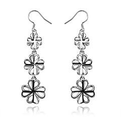Dames Druppel oorbellen Sieraden Kostuum juwelen Sterling zilver Klavertje vier Sieraden Voor Bruiloft Feest Dagelijks Causaal