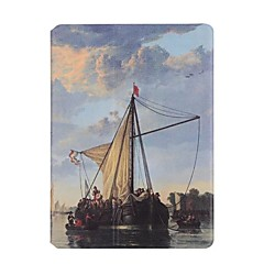 For Apple iPad Air2 Air Case Cover Sailboat Pattern PU Leather Stent Flat Shell
