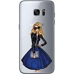 Για Εξαιρετικά λεπτή Διαφανής Με σχέδια tok Πίσω Κάλυμμα tok Σέξι κυρία Μαλακή TPU για Samsung S7 edge S7 S6 edge plus S6 edge S6