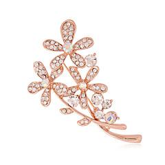 Dam Broscher imitation Diamond Mode Silver Brun Smycken Bröllop Party Dagligen Casual
