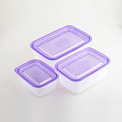 3pcs cajas de control de artículos para el hogar de plástico para los alimentos fríos
