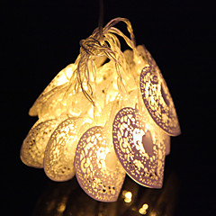 Valentine's Day 10 Led Cool White Metal Love Heart Party Wedding Party String Fairy Light
