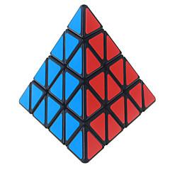 Shengshou® Tasainen nopeus Cube pyraminx Professional Level Rubikin kuutio Musta Fade Ivory Smooth Tarra / Anti-pop säädettävä jousi ABS