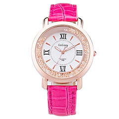 Women's Fashion Watch Wrist watch Quartz PU Band Black White Red Brown Pink Purple