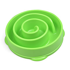 Cat Dog Bowls & Water Bottles Pet Bowls & Feeding Waterproof Portable Green Blue Rose Plastic