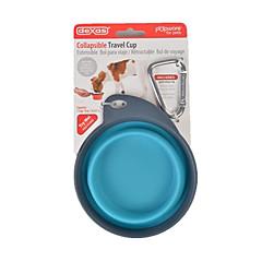 Gatto Cane Ciotole & Bottiglie Animali domestici Ciotole e alimentazione Portatile Verde Blu Rosa Porpora Silicone