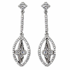 Drop Earrings Alloy Silver Jewelry Casual 1 pair