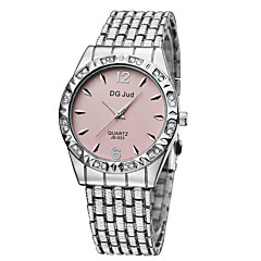 Men's Women's Couple's Fashion Watch Simulated Diamond Watch Quartz Alloy Band Silver Gold