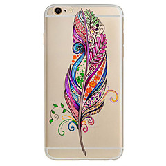 For Ultratyndt Mønster Etui Bagcover Etui Fjer Blødt TPU for Apple iPhone 7 Plus iPhone 7 iPhone 6s Plus/6 Plus iPhone 6s/6