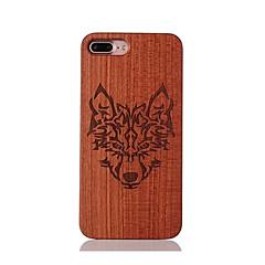 For Stødsikker Præget Mønster Etui Bagcover Etui Dyr Hårdt Træ for AppleiPhone 7 Plus iPhone 7 iPhone 6s Plus/6 Plus iPhone 6s/6 iPhone