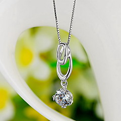 Pendants Sterling Silver Zircon Cubic Zirconia Basic Unique Design Fashion Luxury Jewelry Silver Jewelry Daily 1pc