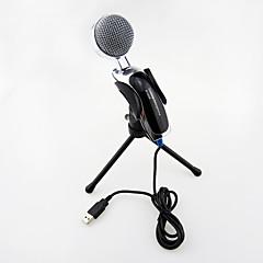 karaoke taşınabilir pc sohbet için tutucu klips ile 2017 yeni usb kullanışlı sıcak kablolu yüksek kaliteli stereo kapasitif mikrofon