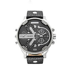 Masculino Relógio de Moda Quartzo Couro Banda Preta Marrom Castanho Escuro Cinzento