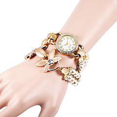 Women's Bracelet Watch Quartz Imitation Diamond Plastic Band Pearls Elegant White Khaki Brand