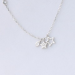 Necklace Non Stone Pendant Necklaces Jewelry Daily Casual Christmas Gifts Flower Flower Style S925 Sterling Silver Women 1pc Gift Black