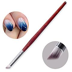 1pc nail art fototherapie het polish lijm de diy schuine helling shading pen Chuo pen de borstel mahoniehouten bar