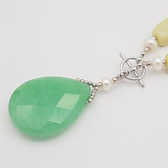 Women's Pendant Necklaces Jade Pearl Pearl Crystal Dangling Style Fashion Vintage Lemon Jewelry Birthday Casual Sports 1pc