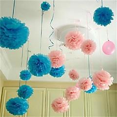 10db 25cm * 25cm olcsó papír virág labdák otthoni lakodalom autó dekoráció kézműves