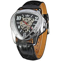 Hombre Mujer Unisex Reloj Deportivo Reloj de Vestir Reloj de Moda Reloj de Pulsera El reloj mecánico Cuerda Automática CalendarioCuero