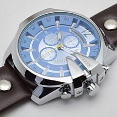 Heren Sporthorloge Modieus horloge Polshorloge Kwarts Kalender Echt leer Band Vintage Vrijetijdsschoenen Luxueus Meerkleurig