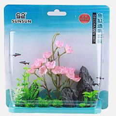 Akvaario Sisustus Puu Kukka Myrkytön ja mauton Muovi