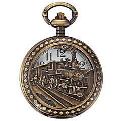 Men's / Unisex Pocket Watch Quartz Alloy Band Bronze