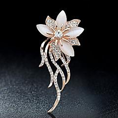 Broszki Rhinestone Kwiaty Kryształ górski Stop Biżuteria Na Impreza Casual