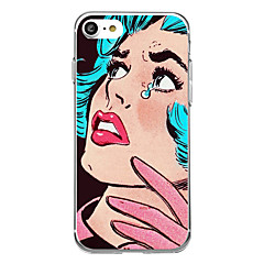 For Ultratyndt Mønster Etui Bagcover Etui Sexet kvinde Blødt Gummi for AppleiPhone 7 Plus iPhone 7 iPhone 6s Plus/6 Plus iPhone 6s/6