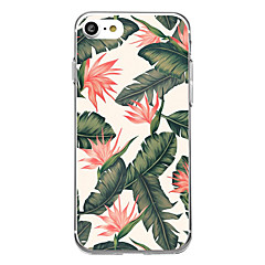 For Ultra Thin Transparent Pattern Case Back Cover Case Banana Flower Soft Rubber for iPhone 7 Plus 7 6s Plus 6 Plus 6s 6 SE 5s 5