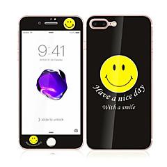 Apple iPhone 7 4.7 szkło hartowane z miękkiej krawędzi pełne pokrycie ekranu przedniej i tylnej ochraniacz ekranu wzór uśmiechu