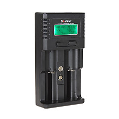 Soshine H2 Smart Battery Charger with 2 Slot LCD Display and Car Charger for 18650 / 26650 / 18650 / 16340