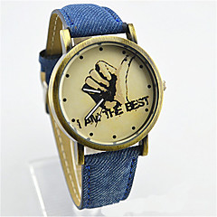 Fashion Watch Quartz Leather Band Charm Casual White Blue Yellow Rose