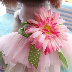 Gatos Perros Vestidos Ropa para Perro Verano Primavera/Otoño Flor Adorable Moda Multicolor
