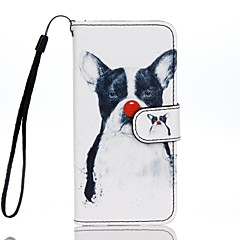 For Card Holder Wallet with Stand Flip Pattern Case Full Body Case Dog Hard PU Leather for Apple iPhone 7 Plus iPhone 7 iPhone 6s Plus/6